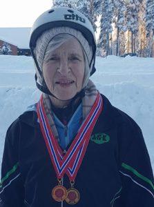 Her er Kamilla med 5 gullmedaljer fra lørdagens løp